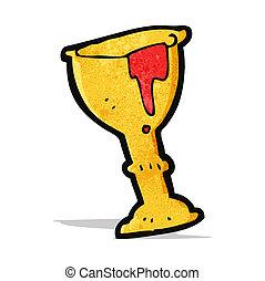 cartoon blood filled goblet