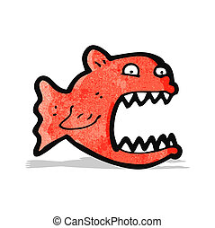 cartoon piranha