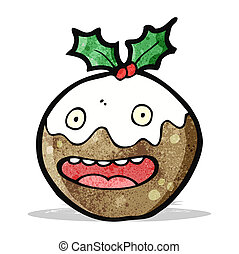 cartoon christmas pudding
