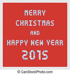 MC and HNY 2015 greeting card2 - Card for Merry Christmas...