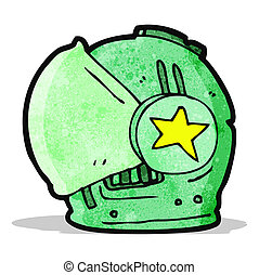 cartoon spaceman helmet