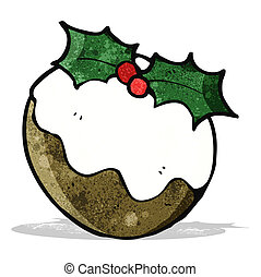 cartoon chrismas pudding - cartoon christmas pudding