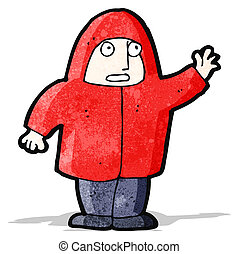 cartoon man in hooded sweatshirt