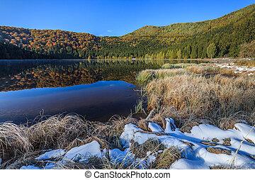 Saint Anna Lake - Autumn landscape at Saint Anna Lake which...