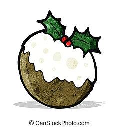 cartoon christmas pudding