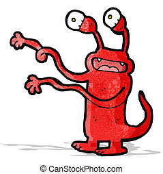 weird cartoon monster
