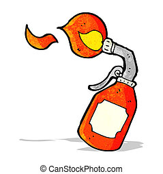 cartoon blow torch