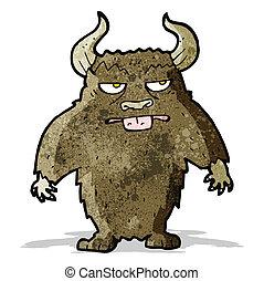 caricatura, minotauro