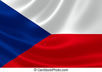 Czech Republic Flag - 3D rendering of the flag of Czech...