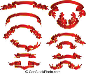Set of different vector ribbons