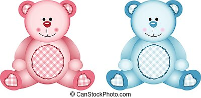 Baby Pink and Baby Blue - Scalable vectorial image...