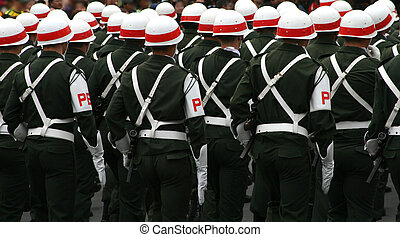 Platoon - Soldiers in a military parade