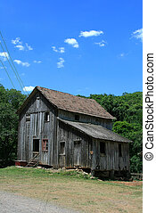 Old house - An old wood house used as a watermill