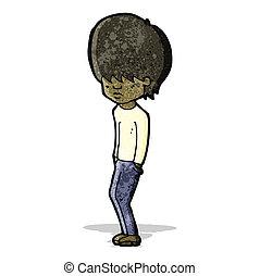 cartoon moody teenager