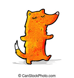 cartoon cute fox