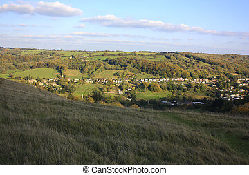 The cotswolds at Stroud - A view of the Cotswolds...