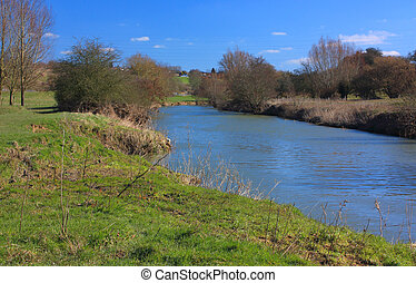Along the Medway at East Farleigh - The river Medway near...