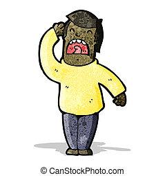 cartoon hard of hearing man shouting