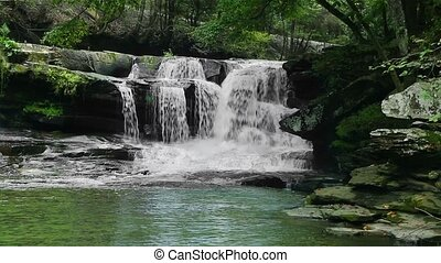 Dunloup Falls Loop - Whitewater cascades over Dunloup Falls,...
