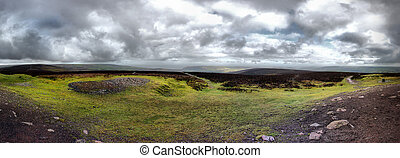 panorama view from dunkery beacon exmoor somerset