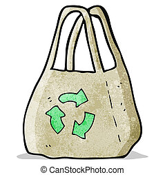 reusable bag cartoon