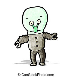 cartoon weird alien