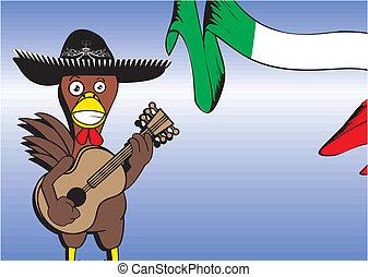 mexican chicken mariachi card - mexican chicken mariachi...