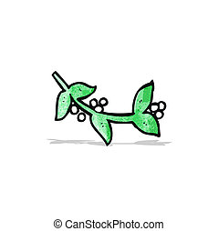cartoon mistletoe