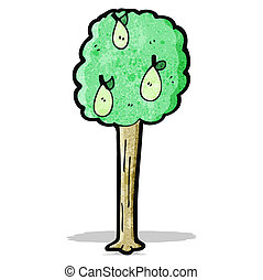 cartoon pear tree
