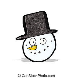 cartoon snowman face