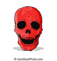 red skull cartoon
