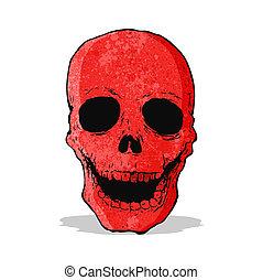 red skull cartoon