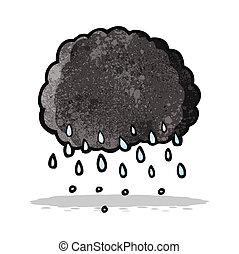 cartoon raincloud