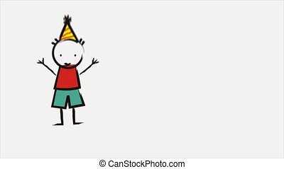 Happy Birthday - Happy birthday animation of happy children