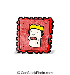 cartoon postage stamp