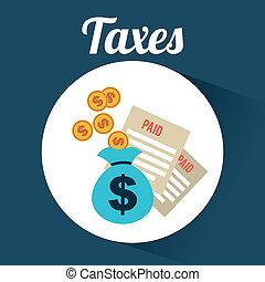 taxes design  - taxes graphic design , vector illustration