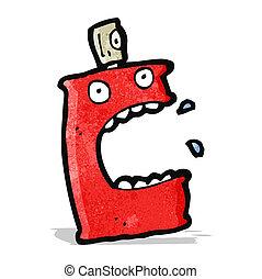 cartoon aerosol can