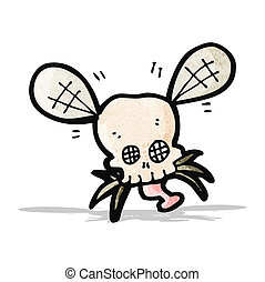 cartoon spooky fly