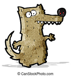 cartoon crazy wolf