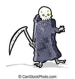 death with scythe cartoon