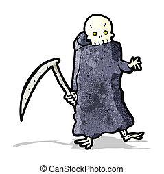 death with scythe cartoon