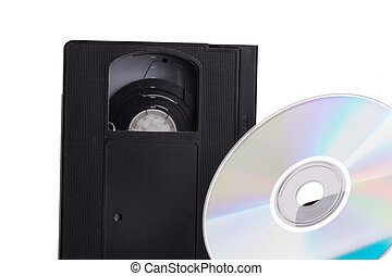 Video contra DVD - Times are changing; old video cassette...