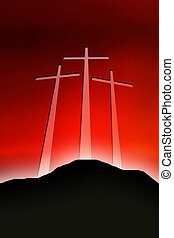 golgotha - three crosses