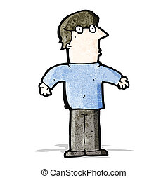 cartoon man shrugging shoulders