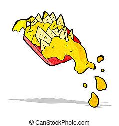 cartoon cheesy nachos