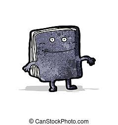 cartoon old book character