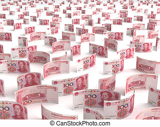 Scattered Chinese Yuan