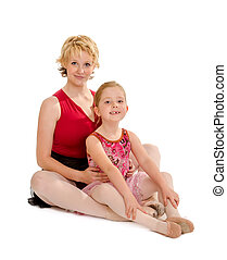 Dance Mom and Tiny Tot Dancer - A Ballerina Dance Mom with...