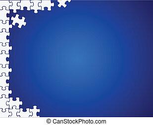puzzle side border illustration design