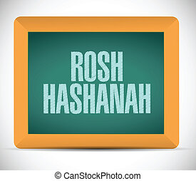 rosh hashanah sign message illustration design over a white...